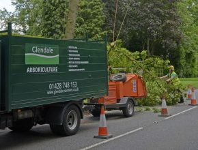 Arboriculture truck and chipper