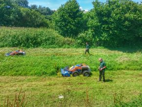 Banks mowing for the environment agency