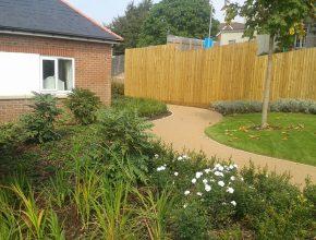 Housing development landscaping 2